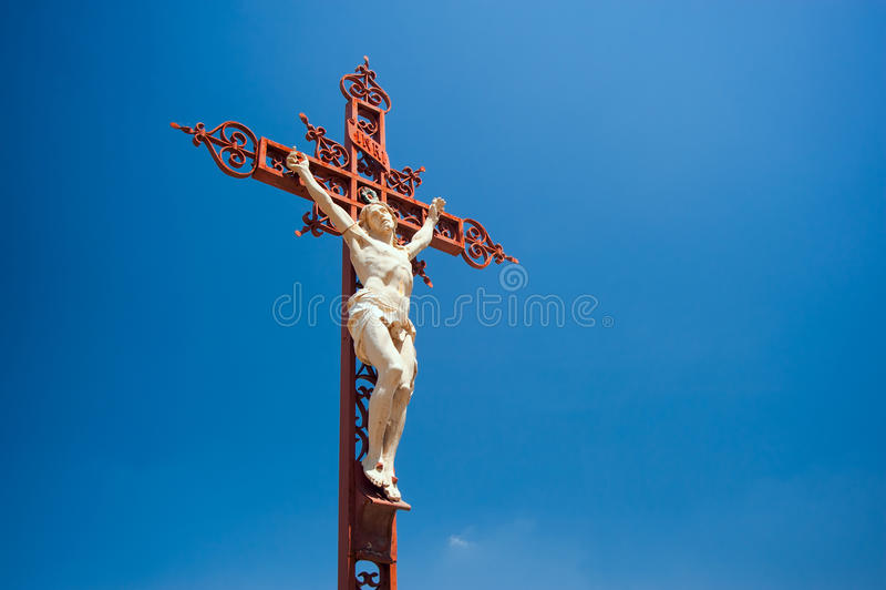 Crucifijo foto de archivo libre de regalías