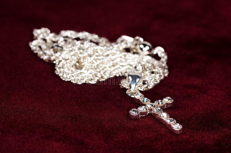 Crucifijo del diamante fotos de archivo