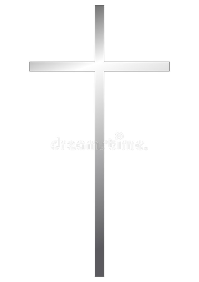 crucifix ασήμι διανυσματική απεικόνιση
