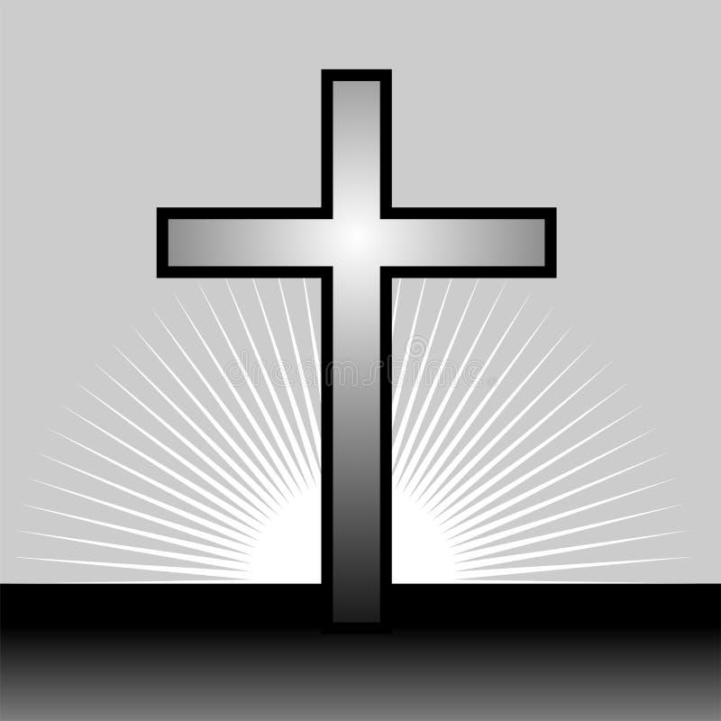 crucifix διανυσματική απεικόνιση