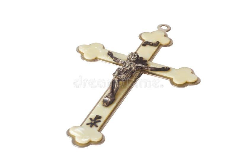 Crucifix. Isolated on white background royalty free stock photo
