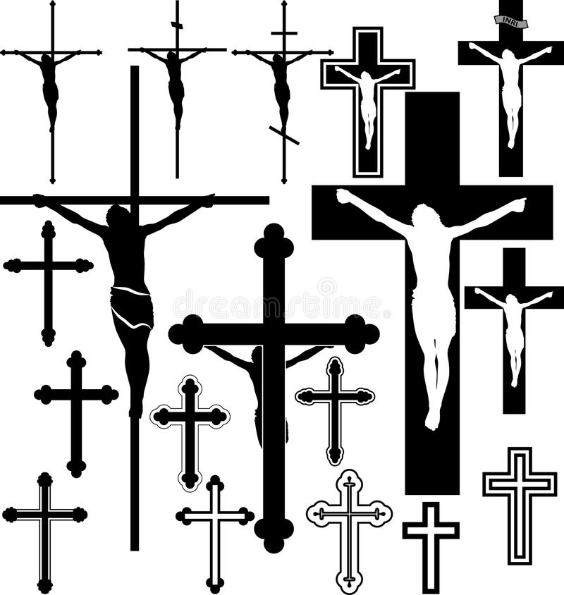 Crucifix stock illustration