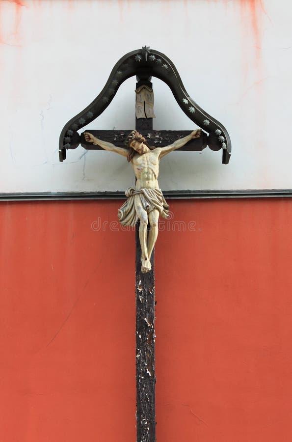 Crucifix. Ancient stone crucifix, symbol of christian faith royalty free stock photography