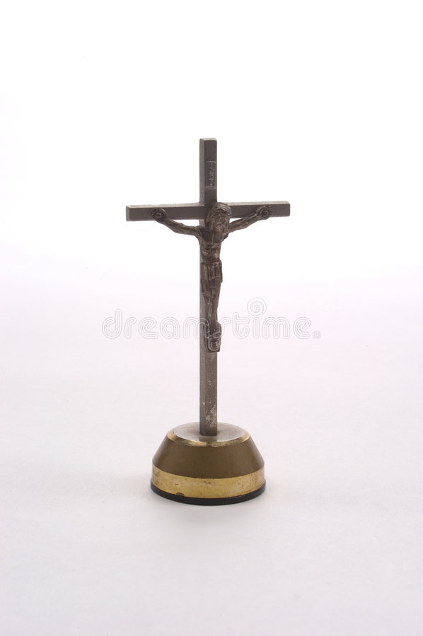 Crucifix De Tableau De Bord Photos stock