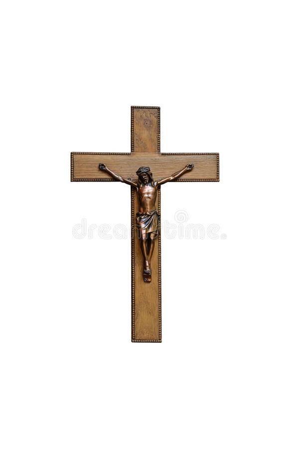 Crucifix with figure of Jesus stock photography