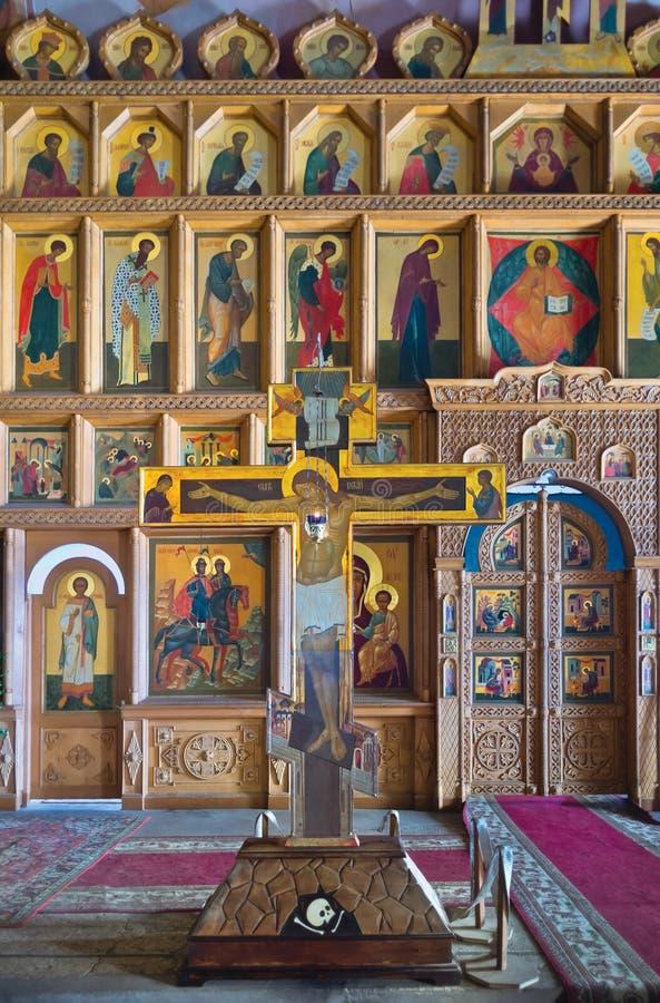 Crucifix and iconostasis royalty free stock photos