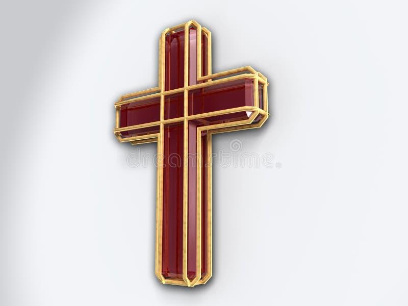 Crucifix isolated on white