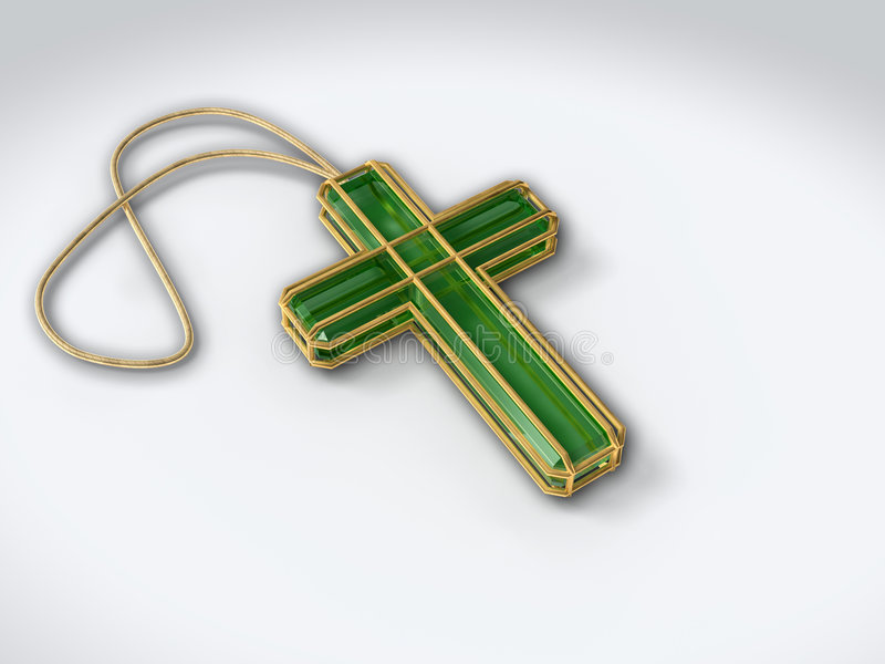 Download Crucifix Isolated On White With Pendant Stock Photo - Image of cross, christmas: 1411930