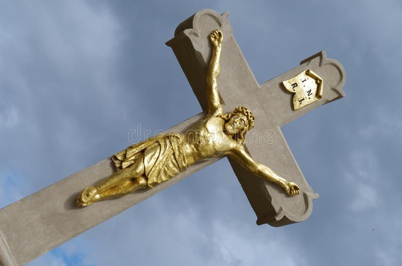 Crucifix, Religious Item, Cross, Statue stock photography