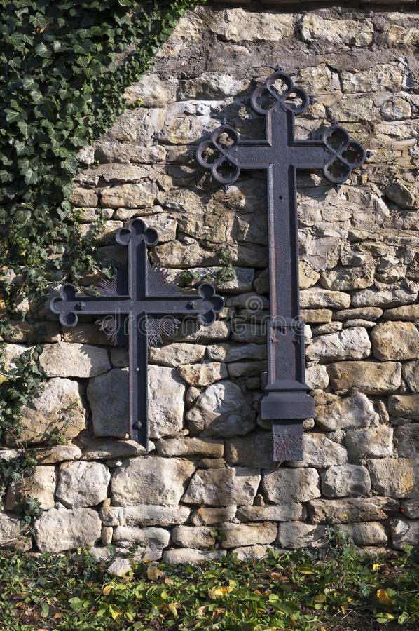 Crucifix on the wall royalty free stock photos