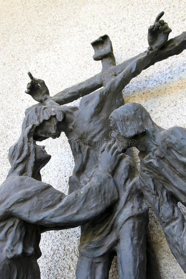 Free Crucifix With Mother Mary And Apostle John, Italy Royalty Free Stock Photos - 12332748
