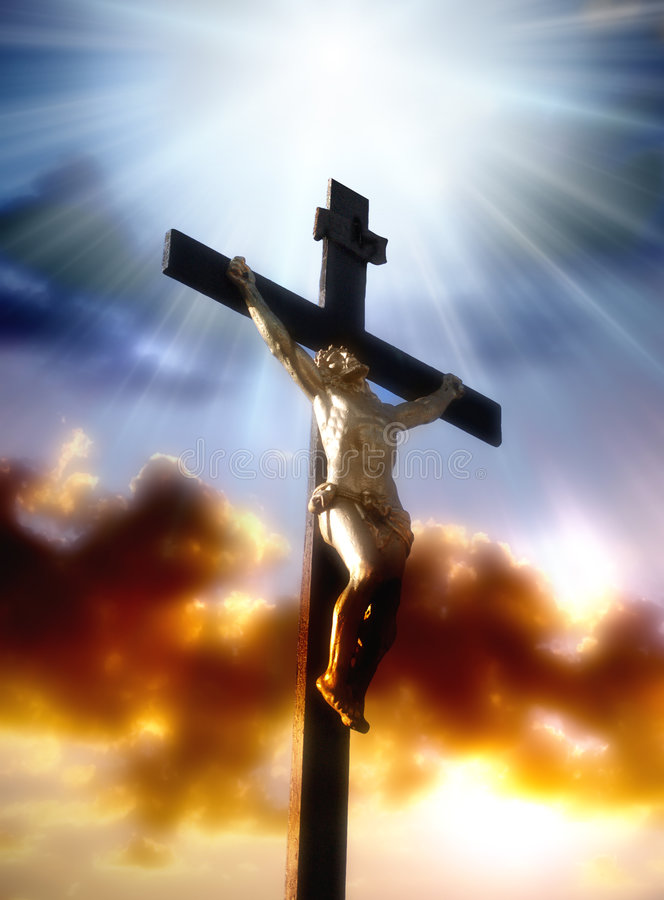 Crucifixión de Cristo fotos de archivo libres de regalías