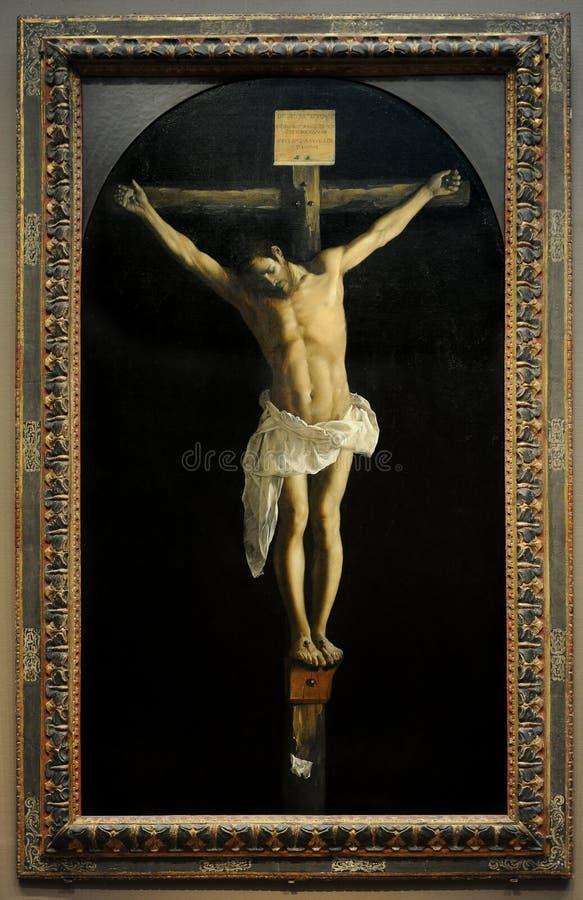 Crucifixión de Francisco de Zurbaran fotografía de archivo