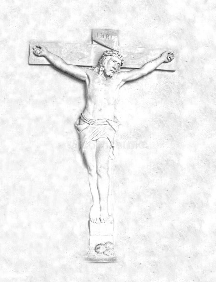 crucifixión y resurrección del jesucristo en la cruz stock de