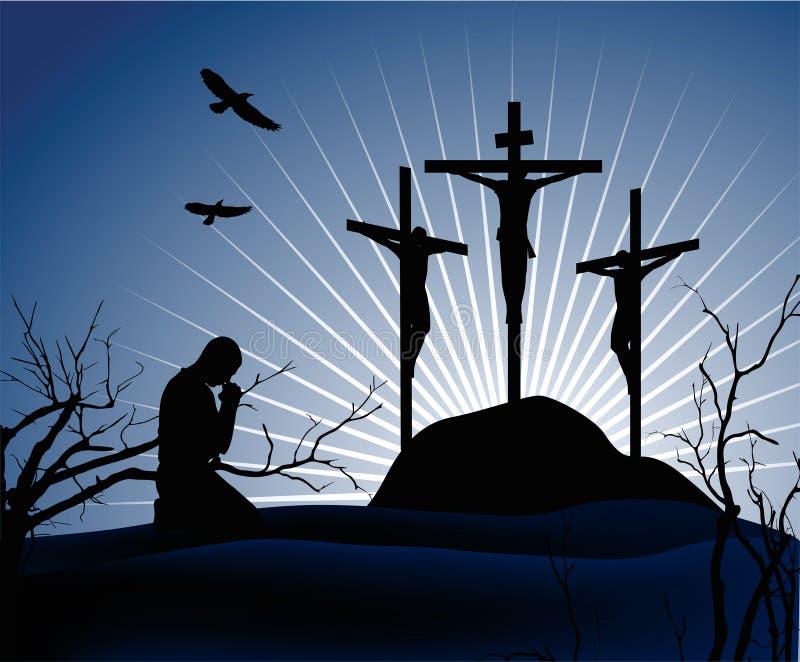 crucifixion stock illustrationer