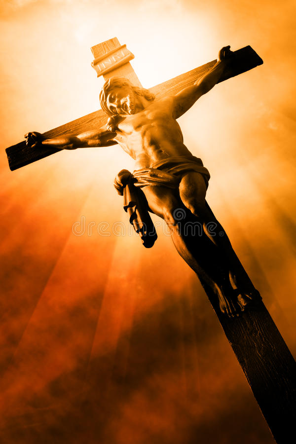 The Crucifixion stock photo