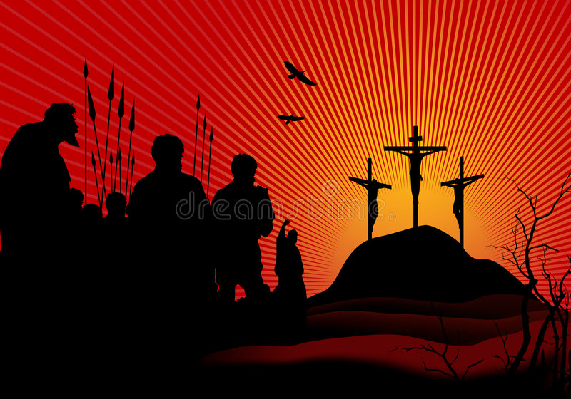 Download The Crucifixion stock vector. Image of hope, holly, religious - 4660841