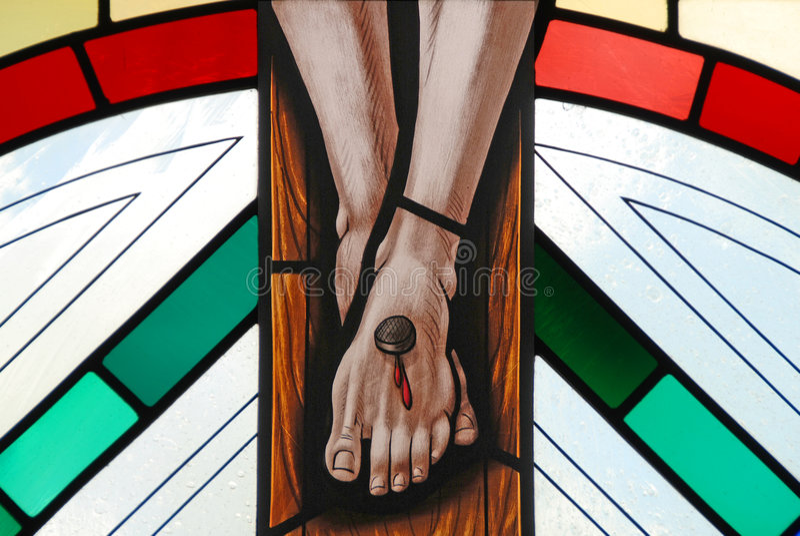 crucifixion royaltyfri bild