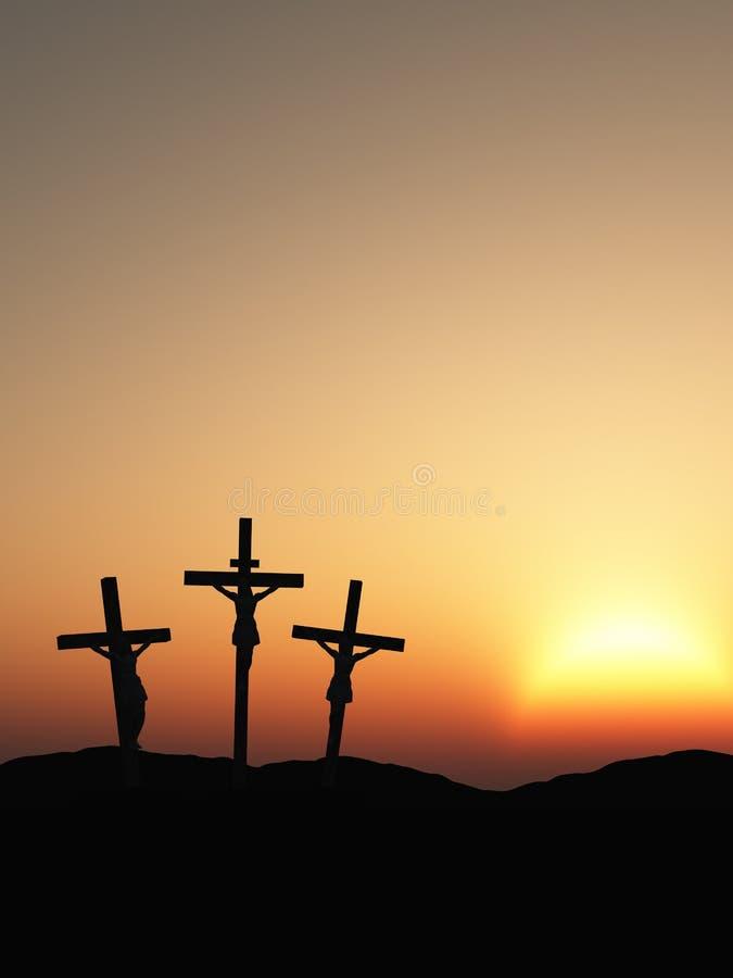 crucifixion royaltyfri illustrationer