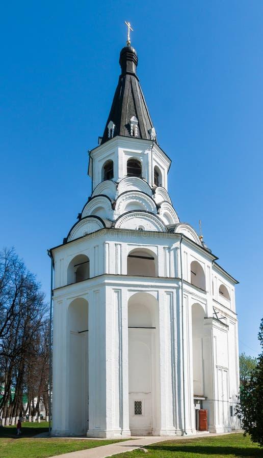Crucifixion church bell tower, Aleksandrov, Vladimir region, Russia royalty free stock image