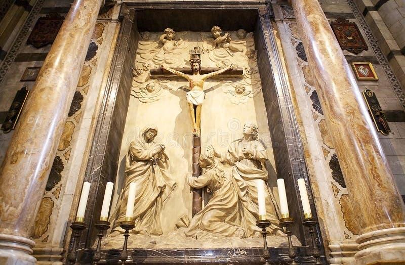Crucifixion dans Siena Cathedral, Sienne, Toscane, Italie photo libre de droits