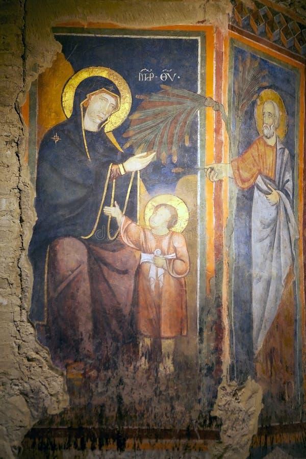 Crucifixion de Jésus, descente de la croix, Sienne, Italie photographie stock libre de droits