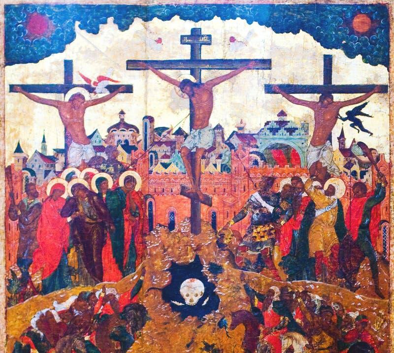 crucifixion du Christ photographie stock