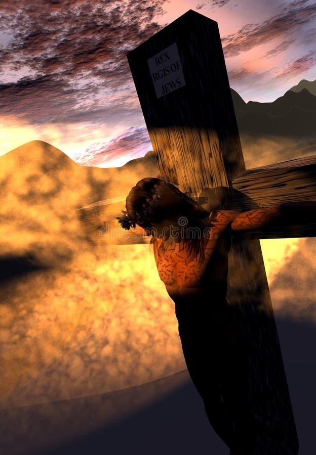 Crucifixion illustration stock image