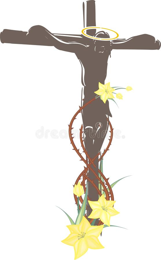 crucifixion jesus vektor illustrationer