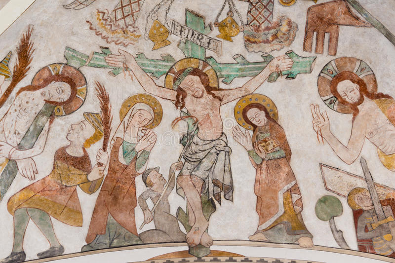 The crucifixion of Jesus on Good Friday royalty free stock photography