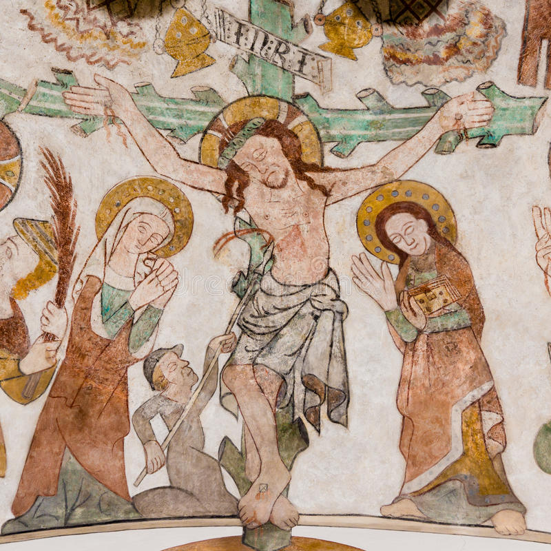 The crucifixion of Jesus on Good Friday royalty free stock image
