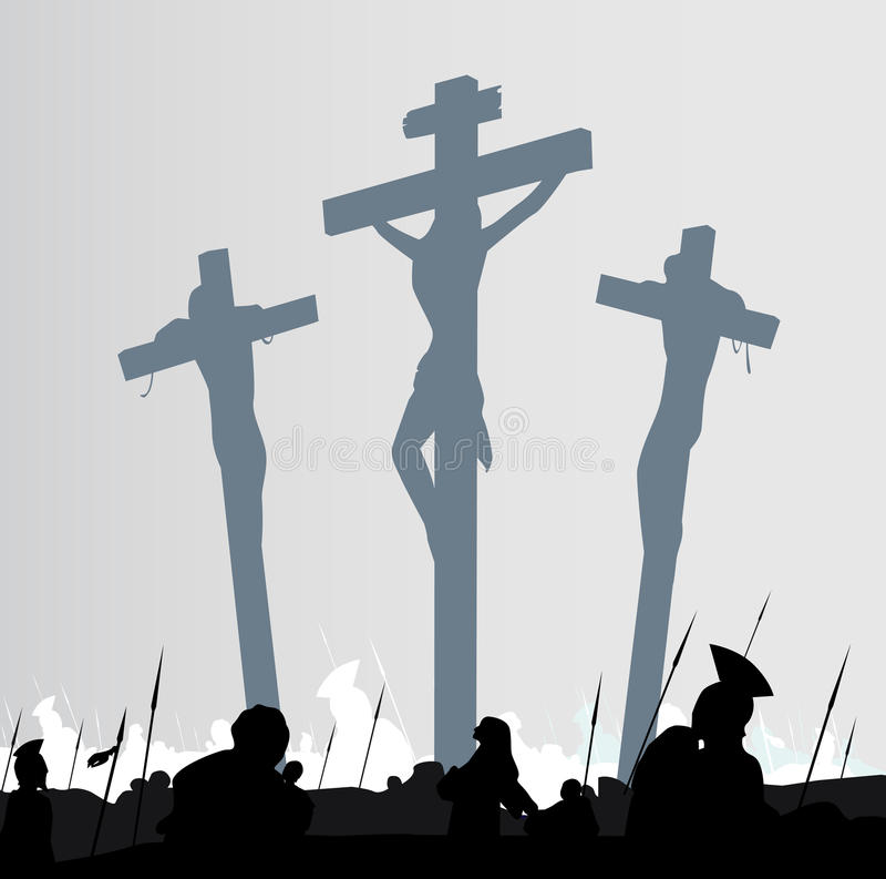 Download Crucifixion scene stock vector. Image of drawing, concept - 13312642