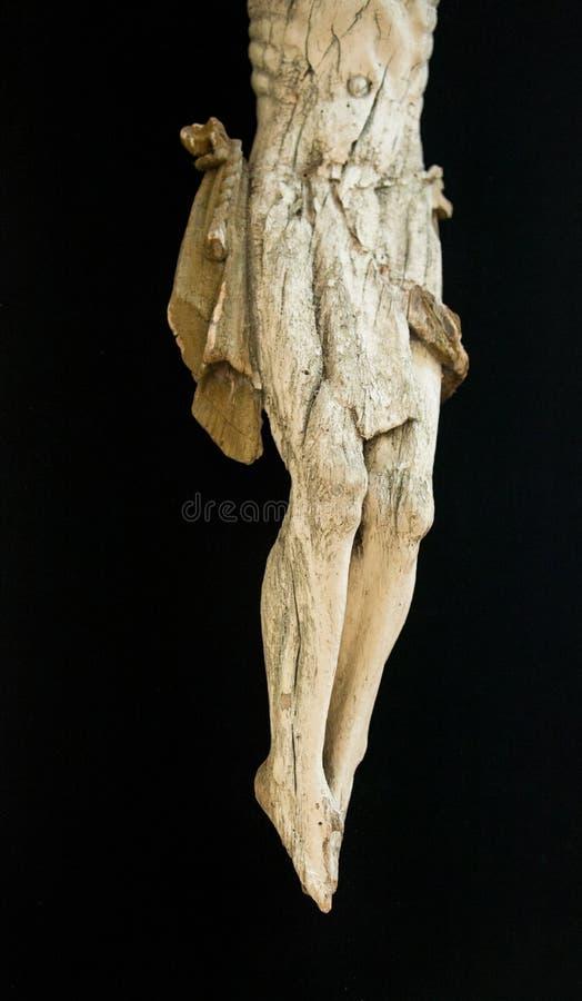 Crucifixo de madeira tradicional velho imagem de stock royalty free