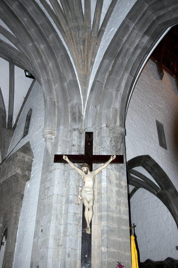 Crucifixo gigante de Cristo no wal fotos de stock royalty free