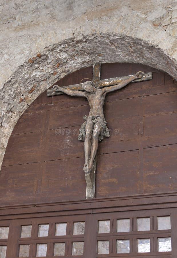 Crucifixo na basílica de Porec Euphrasian, Croácia fotos de stock royalty free