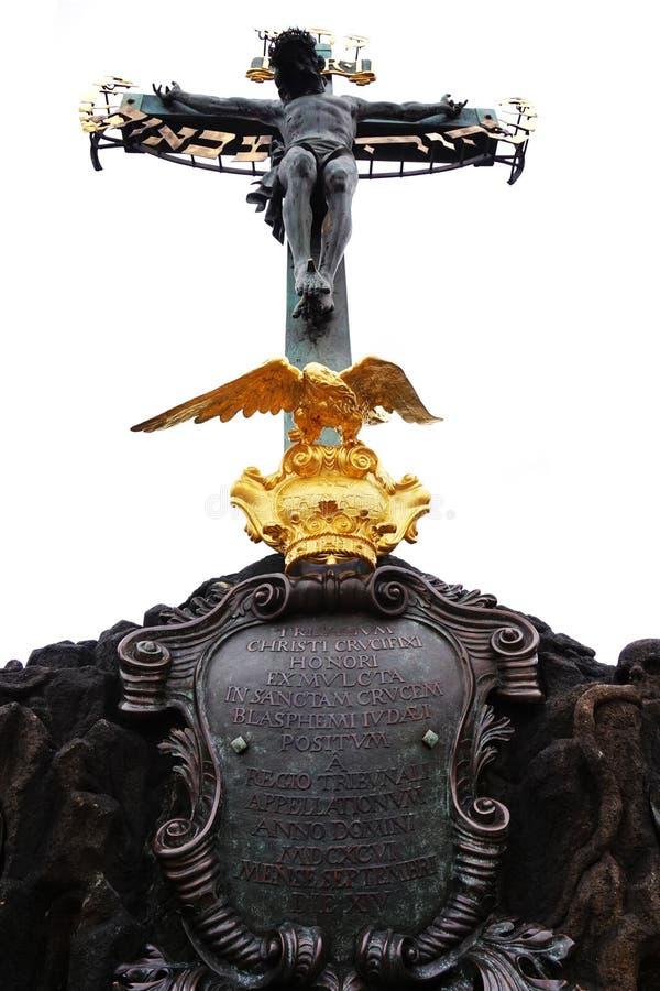 crucifixo velho de Praga imagem de stock