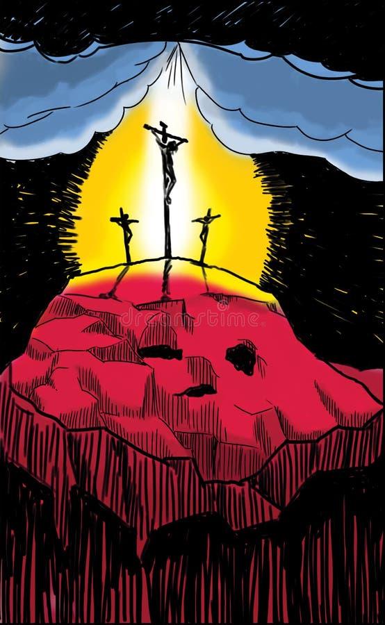 Crucifixtion van Christus stock afbeelding