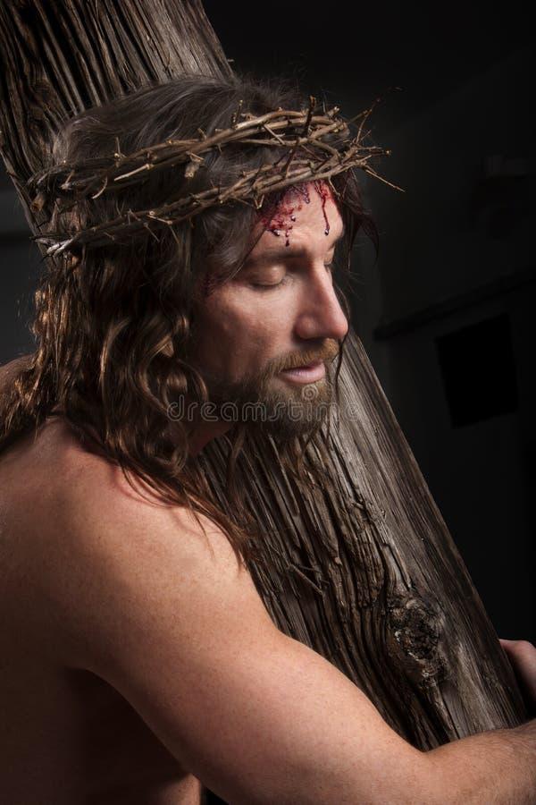 Crucifixtions-Porträt stockfotos