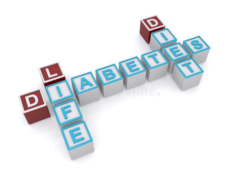 Crucigrama de la diabetes stock de ilustración