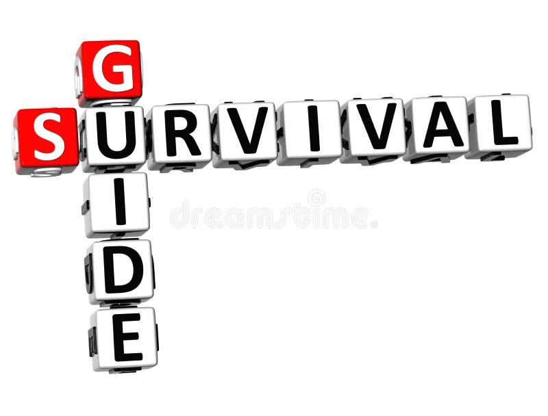 crucigrama de la guía de supervivencia 3D ilustración del vector
