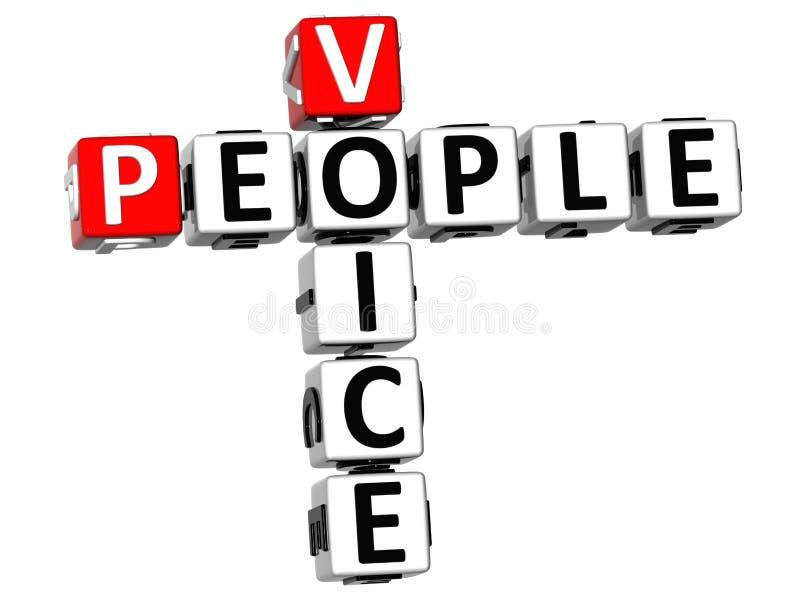 crucigrama de la voz de la gente 3D stock de ilustración