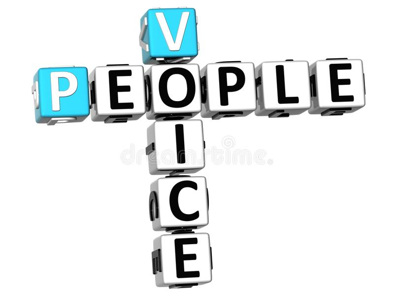 crucigrama de la voz de la gente 3D ilustración del vector