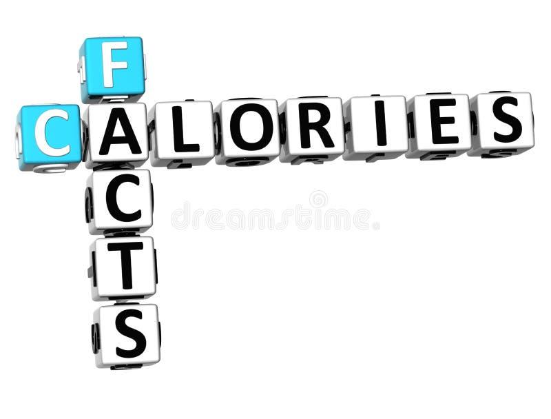 crucigrama de las calorías de los hechos 3D ilustración del vector
