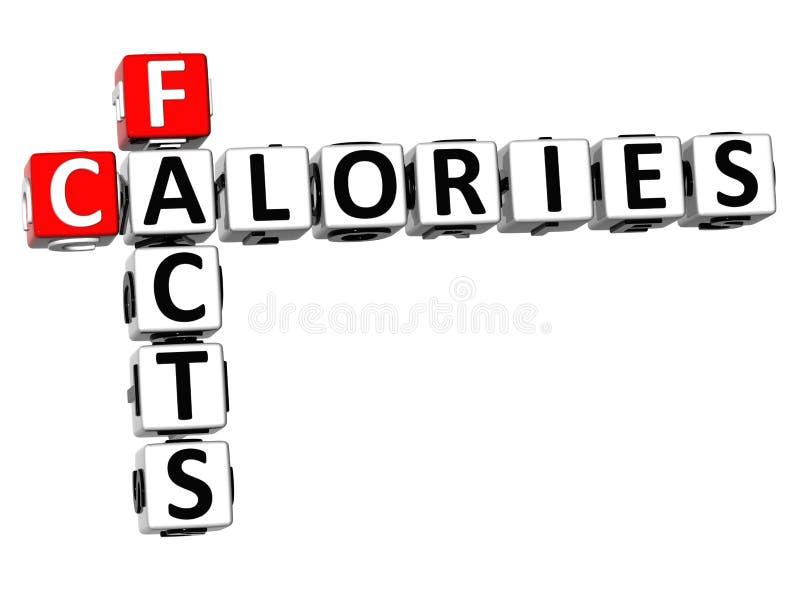 crucigrama de las calorías de los hechos 3D libre illustration