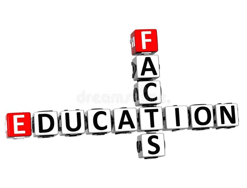 crucigrama de los hechos de la educación 3D libre illustration