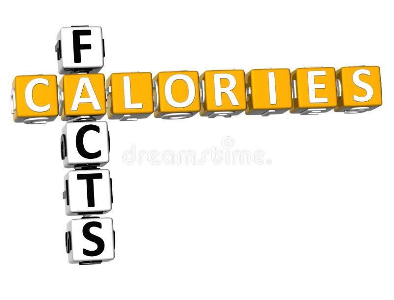 crucigrama de los hechos de las calorías 3D libre illustration