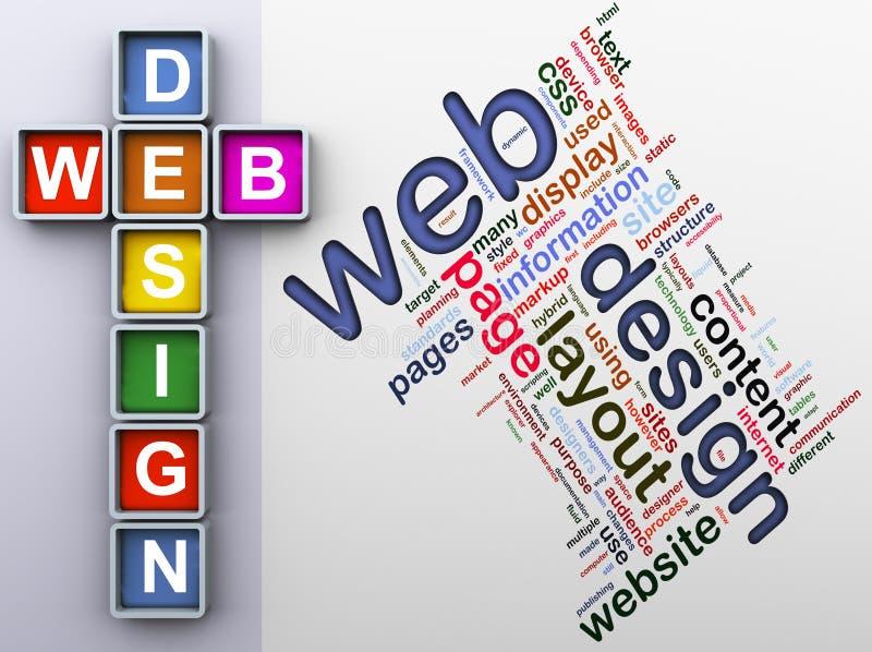 Crucigrama del diseño de Web libre illustration