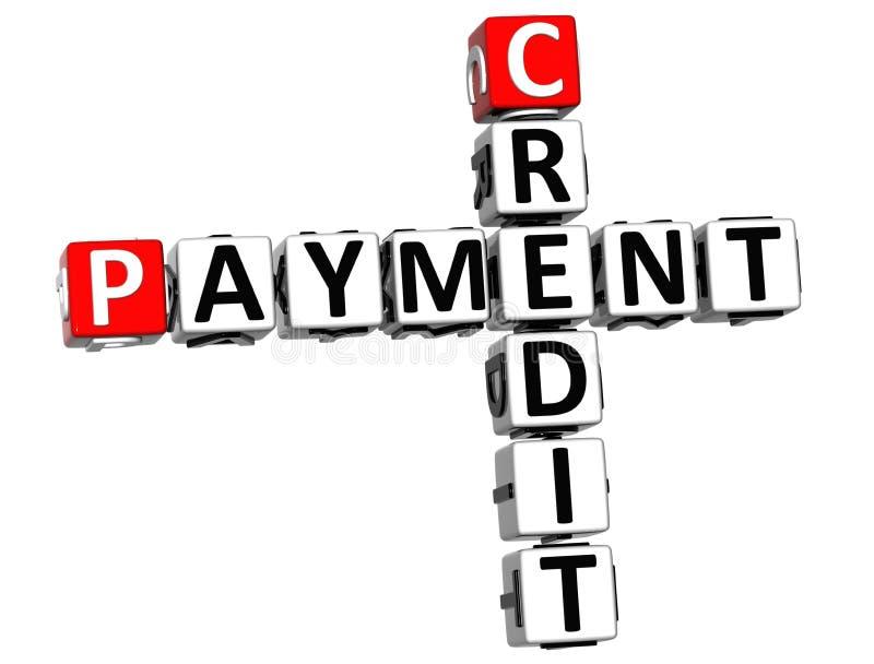 crucigrama del pago del crédito 3D ilustración del vector