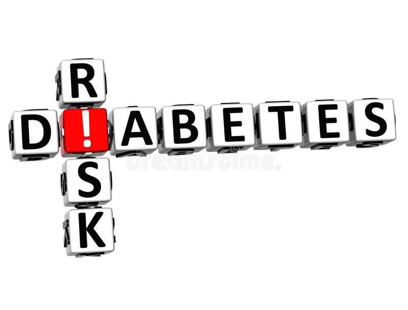 crucigrama del riesgo de la diabetes 3D ilustración del vector