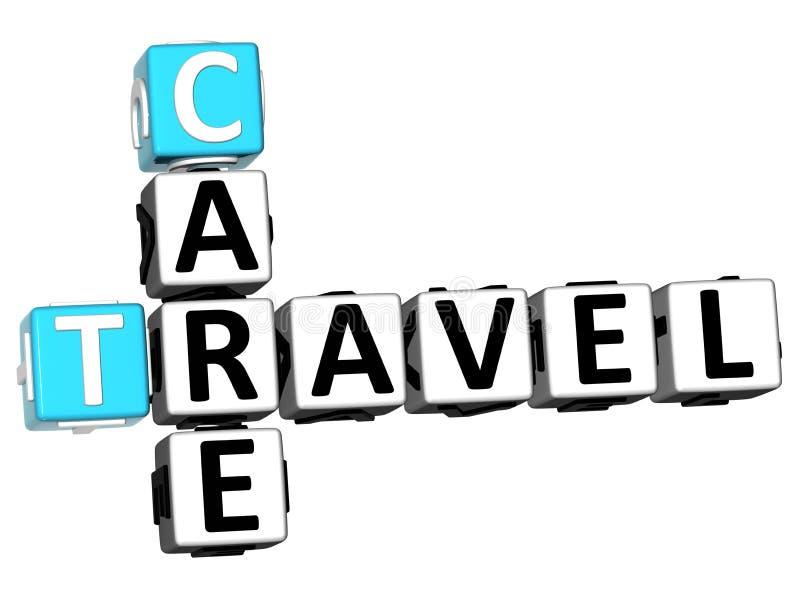 crucigrama del viaje del cuidado 3D libre illustration